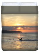 Jet Bike Sunset Duvet Cover