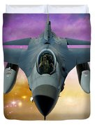 Jet Fighter Aircraft F-16 Falcon Aircraft  Duvet Cover by Ericamaxine Price