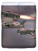 Jet Flying Low Duvet Cover