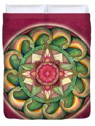 Jewel Of The Heart Mandala Duvet Cover