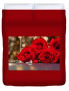 Jewelry And Roses Duvet Cover