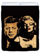 Jfk And Marilyn Duvet Cover