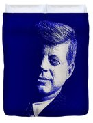 Jfk - Blue Duvet Cover