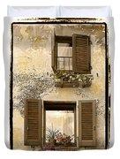 Orvieto Window Polaroid Duvet Cover