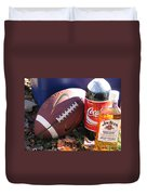Jim Beam Coke And Football Duvet Cover