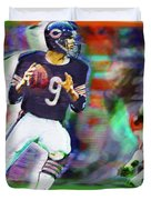Jim Mcmahon With Walter Payton Chicago Bears Duvet Cover
