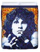 Jim Morrison Chuck Close Style Duvet Cover by Joshua Morton
