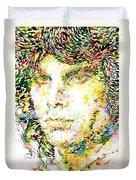 Jim Morrison Watercolor Portrait.2 Duvet Cover