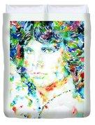 Jim Morrison Watercolor Portrait.5 Duvet Cover