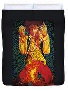 Jimi Hendrix Fire Duvet Cover