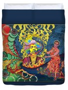 Jimi Hendrix Rainbow Bridge Duvet Cover