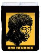Jimi Hendrix Rock Music Poster Duvet Cover