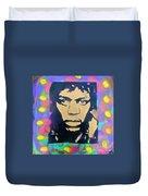 Jimi Hendrix Squared Duvet Cover
