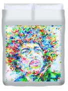 Jimi Hendrix  - Watercolor Portrait.3 Duvet Cover
