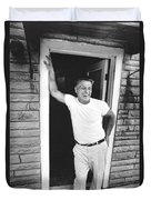 Jimmy Hoffa Interview Duvet Cover