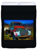 Jimmy In Taos - Abstract Duvet Cover