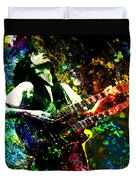 Jimmy Page - Led Zeppelin - Original Painting Print Duvet Cover