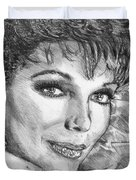 Joan Collins In 1985 Duvet Cover