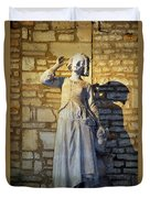 Joan Of Arc Hearing Voices By Francois Rude Duvet Cover