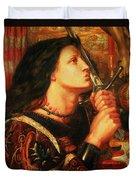 Joan Of Arc Kissing The Sword Duvet Cover