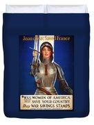 Joan Of Arc War Stamps Poster 1918 Duvet Cover