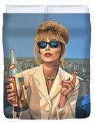 Joanna Lumley As Patsy Stone Duvet Cover