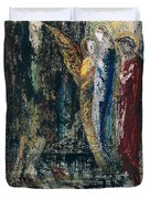 Job And The Angels Duvet Cover by Gustave Moreau