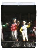Jockeys In A Row Duvet Cover