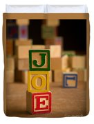Joe - Alphabet Blocks Duvet Cover