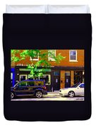 Joe Beef Liverpool House Notre Dame Little Burgundy Restaurant Montreal City Scene Carole Spandau Duvet Cover