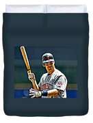 Joe Mauer Painting Duvet Cover