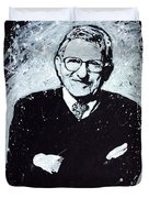 Joe Paterno Duvet Cover by Chris Mackie