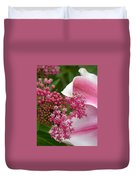 Asclepias And Friend Duvet Cover