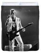 Joe Strummer At Clash Final Concert Duvet Cover