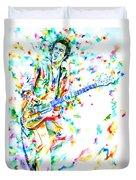 Joe Strummer Playing Live Duvet Cover