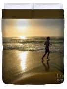 Jogging At Sunrise By Kaye Menner Duvet Cover