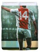 Johan Cruijff Nr 14 Painting Duvet Cover