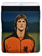 Johan Cruyff Oranje Duvet Cover