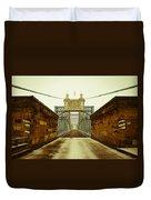 John A. Roebling Bridge Duvet Cover