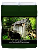John Cable Grist Mill - Poster Duvet Cover