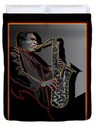 John Coltrane Jazz Saxophone Legend Duvet Cover