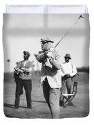 John D. Rockefeller Golfing Duvet Cover