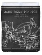 John Deer Tractor Patent Drawing From 1933 Duvet Cover