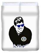 John F Kennedy Signature Wayfarer Duvet Cover