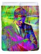 John Fitzgerald Kennedy Jfk In Abstract 20130610v2 Duvet Cover