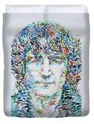 John Lennon Portrait.1 Duvet Cover