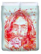 John Lennon With Rose Duvet Cover