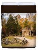 John Oliver Pioneer Cabin Duvet Cover