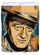 John Wayne Pop Art Duvet Cover by Jim Zahniser