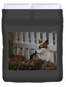 Johnny By The Fence Duvet Cover